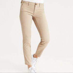 AEO Skinny Stretch Twill Khakis size 2 (long)